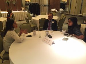 Dr. Babar Rao and Dr. Nada Elbuluk have a pre-event interview with an editor, discussing the latest in Health and Beauty Tech.